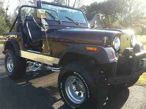jeep burgundy interior purchase used jeep cj7 1979 burgundy great condition in