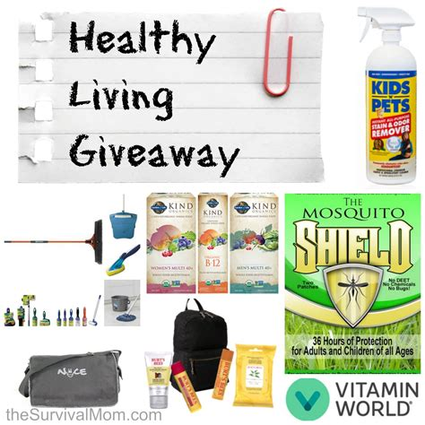 Healthy Giveaway - living healthy giveaway 2 prize packages survival mom
