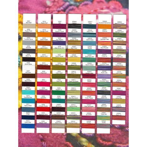 thread color chart thread thread colour charts wonderfil sue spargo