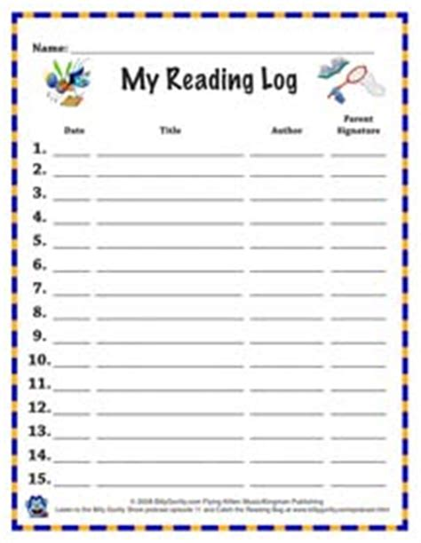 kindergarten reading log template best photos of my reading log reading log template