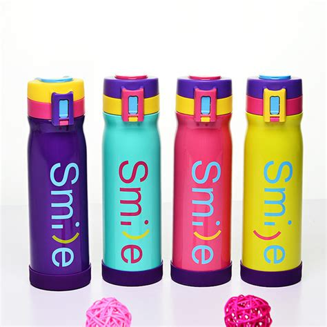 Botol Minum 500ml botol minum thermos stainless steel my smile 500ml blue jakartanotebook