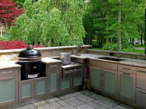 outdoor kitchen furniture stainless steel cabinets for your outdoor kitchen trend