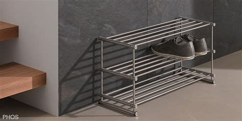 design schuhregal aus edelstahl cns f 252 r ihre schuhe