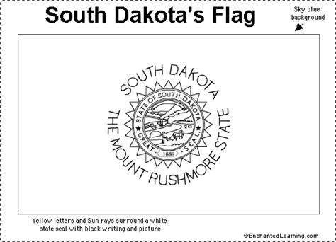 south dakota flag printout enchantedlearning com