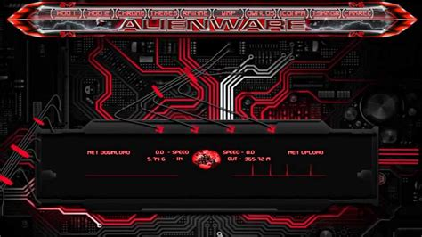 alienware energy rainmeter blue  red youtube