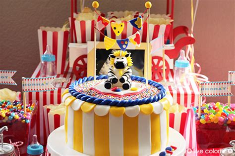 Circus Themed Baby Shower Decorations by Circus Themed Baby Shower Ideas Live Colorful