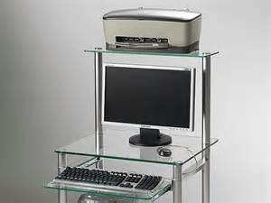 compact bureau pour ordinateur en verre
