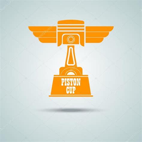 Piston Cup piston the piston cup golden icon badge stripe any