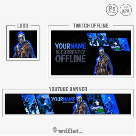Fortnite Banner And Logo Twitch And Youtube Templates Fortnite Logo Template