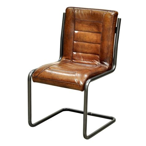 leather dining side chairs carl leather side chair more decor