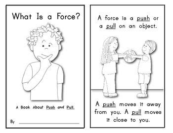 Push And Pull Worksheets For Kindergarten by And Motion Quot What Is A Quot Emergent Science