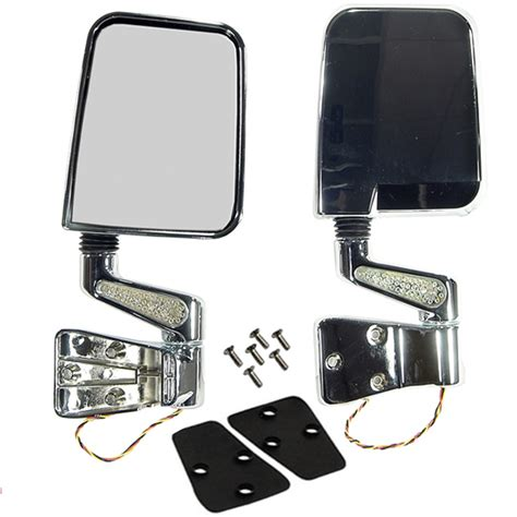 Jeep Yj Mirrors All Things Jeep Door Mirror Kit With Led Turn Signals