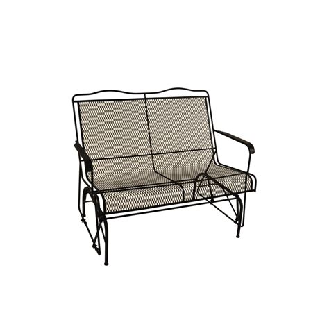 wrought iron patio furniture lowes shop davenport black wrought iron patio rocking chair at