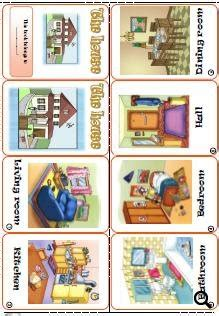 rooms in the house: mini book