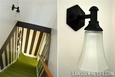 Stairway Sconces Stairway Makeover Reveal Lansdowne