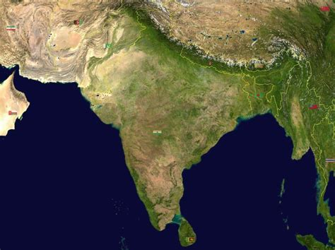 maps satellite image south asia india satellite map maps of india