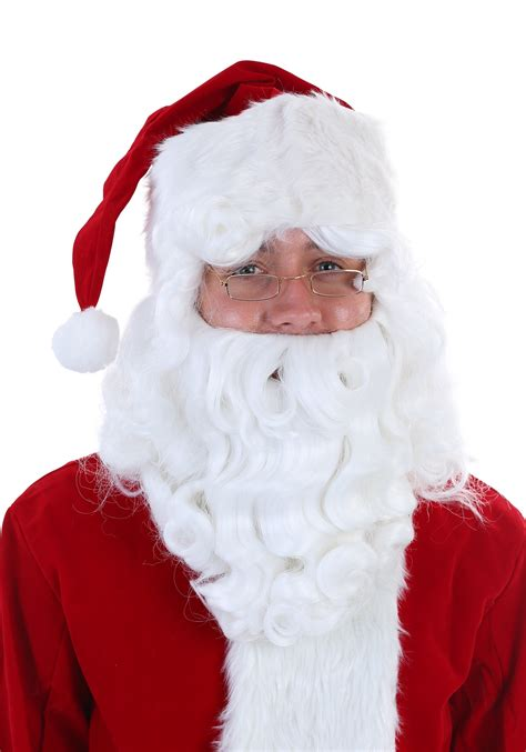 Kostum Santa Santa Costume 1 Set santa claus wig and beard set fever quality