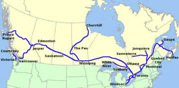 Canada Train Map by Via Rail Canada Wikiwand