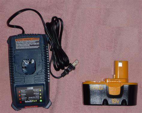 ryobi 18v battery charger manual ryobi one p100 18v battery p115 charger new free ship