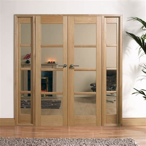 Door Divider by W6 Oslo Oak Room Divider With Demi Side Panels And Clear