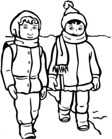 coloring pages of girl stuff gloves winter clothes coloring page kids coloring pages