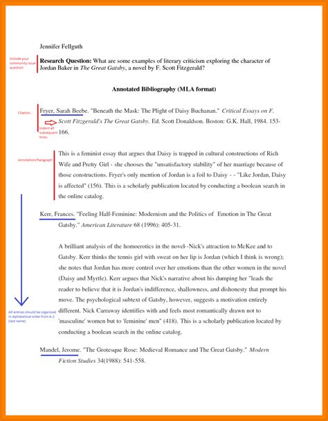 Apa Annotated Bibliography Exle Template Annotated Bibliography Template