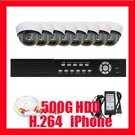 Cctv Indoor Sony 540tv Professional 8 Channel H 264 Dvr With 8 X 1 3 Quot Sony Ccd