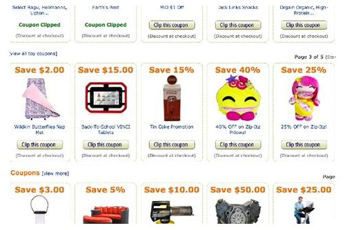 coupons page amazon