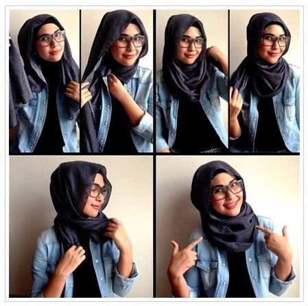 tutorial hijab ber kacamata gambar tutorial hijab untuk yang berkacamata terbaru 2016