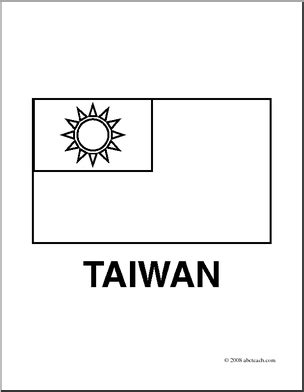clip art flags taiwan coloring page abcteach