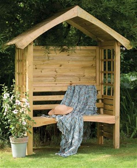 garden bench arbour arbor bench peaked roof natural wood porches and nooks pinterest front yards