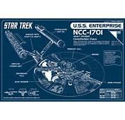 Star Trek Enterprise Blueprint Poster  ThinkGeek