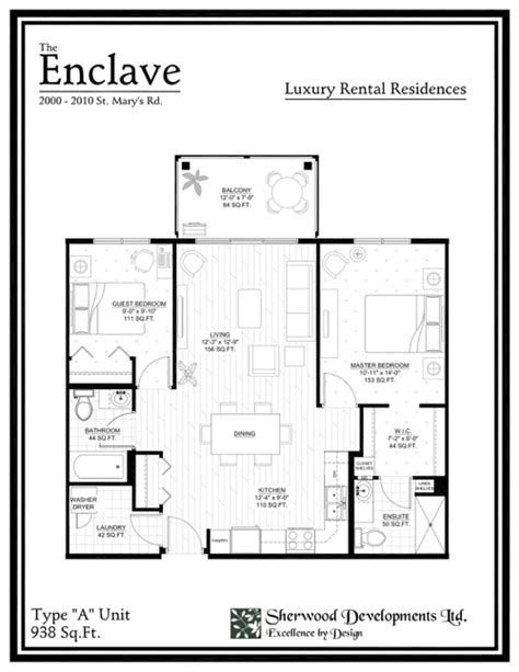 enclave floor plans the enclave floor plans
