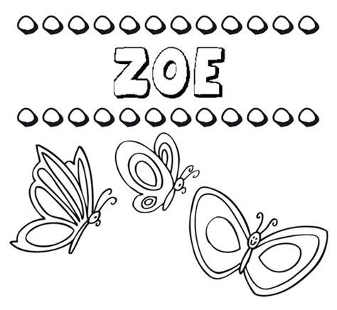Dibujos Infantiles Zoe | zoe dibujos de los nombres para colorear pintar e imprimir
