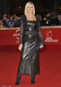 olivia newton john leather pants olivia newton john s leather dress
