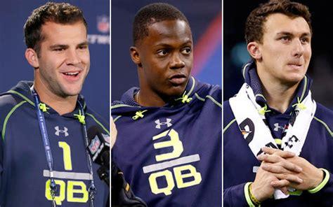 nfl combine bench press quarterbacks on the nfl quarterbacks move back to forefront in nfl draft latimes
