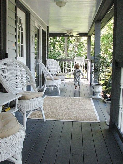 porch could paint the floor a charcoal gray for the home the floor furniture
