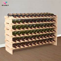 72 bottles holder wine rack stackable storage 6 tier solid