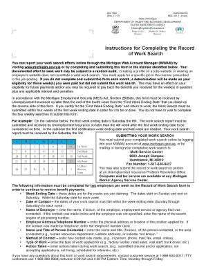 unemployment work search form 1583 work search formpdffillercom fill online printable