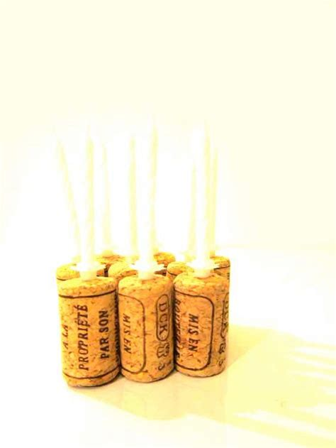 wine birthday candle wine cork birthday candle holders fancy white top by