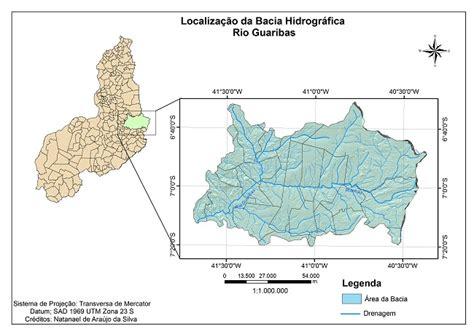 layout de mapa no arcgis 9 176 sinageo bacia hidrogr 193 fica do rio guaribas piau 205