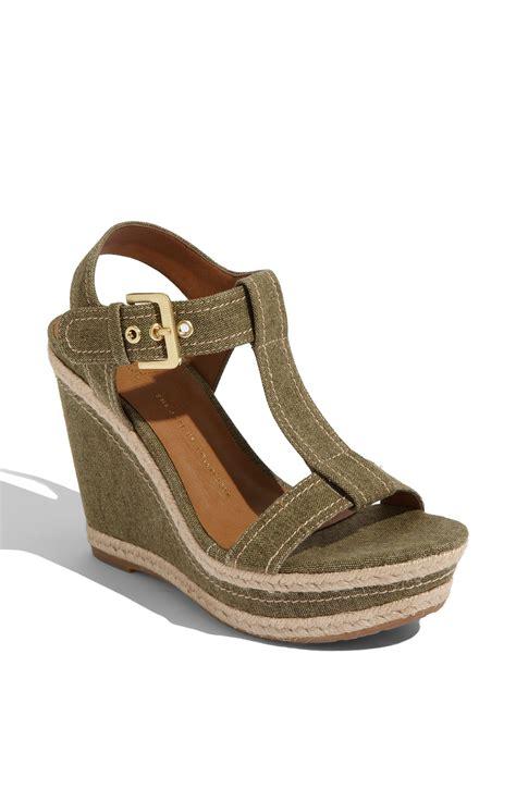 franco sarto sandal franco sarto womens ambrosia wedge sandal in brown olive