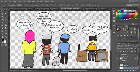 Komik Bisnis Overachievement Prestasi Luar Biasa contoh desain grafis menggunakan photoshop virallah