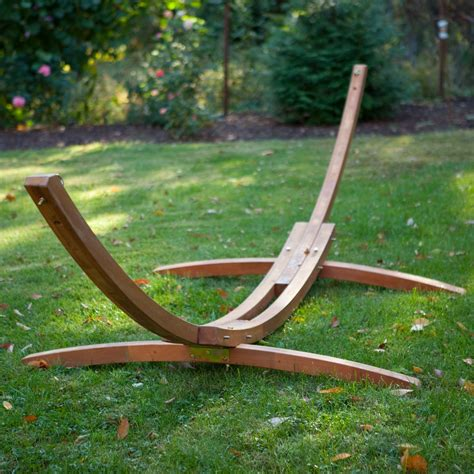 Hammock And Wooden Stand wooden arc hammock stand review