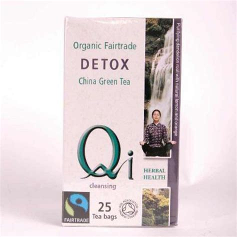 Qi Organic Green Tea Detox by Fairtrade Organic Detox Green T Bags In 25bags From Qi Teas