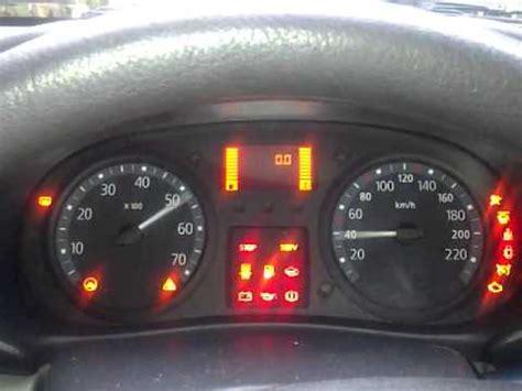 car electrical problems dashboard lights renault clio ii dashboard test