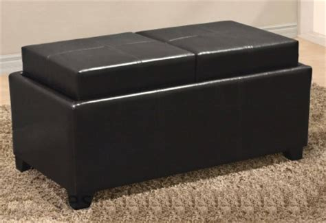 storage ottoman bench with tray brand new leather ottoman with 2 tray top storage coffee