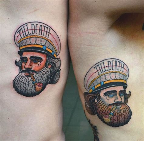 sailor couple tattoo sailor beard beards
