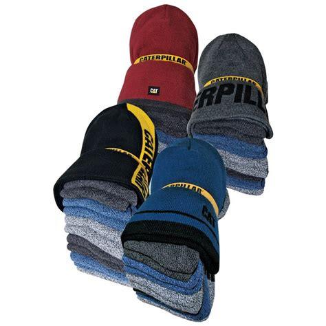 cat sock bundle caterpillar cat 1490006 knit cap and 6 pack sock bundle
