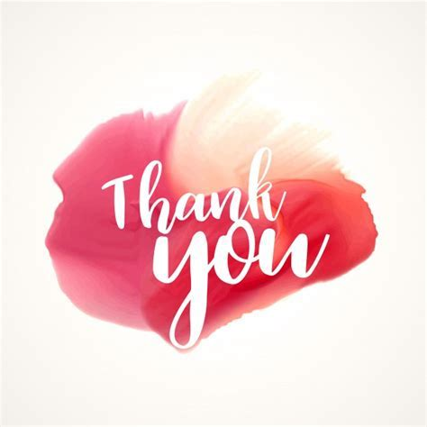 Red watercolor stain with thank you text Vector   Free